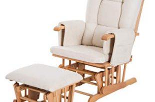 Amazon.com: HomCom 2 Piece Ultra-Plush Reclining Rocking Chair with