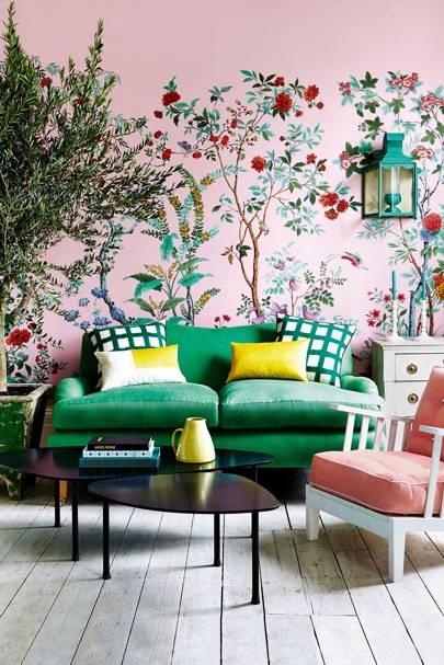 Green Sofa - Living Room Design Ideas & Pictures - Decorating Ideas