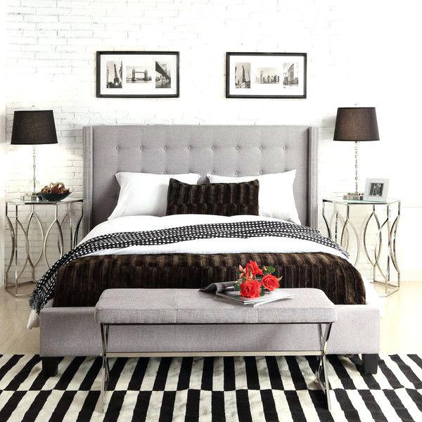 Grey Upholstered Headboard Sleek Gray Tufted Headboard Master Suite