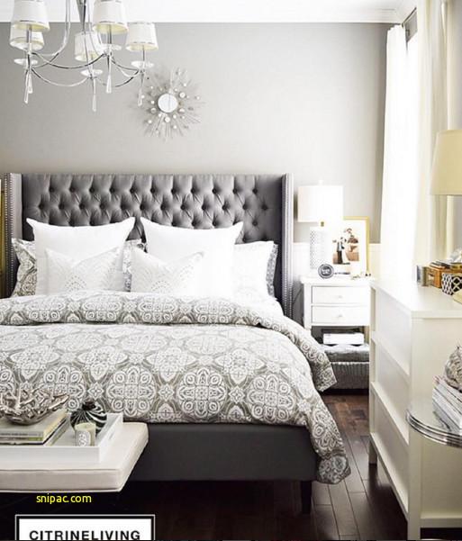 Grey Upholstered Headboard Bedroom Ideas
