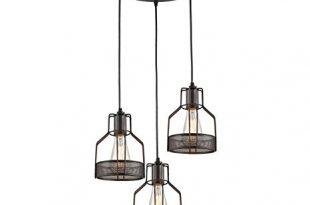 Truelite Industrial 3-Light Dining Room Pendant Rustic Oil-Rubbed