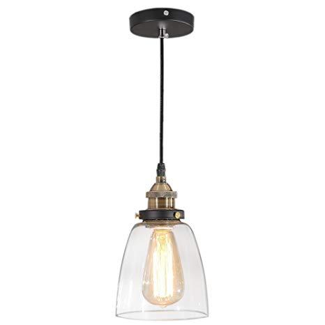 Tomshine Pendant Lighting Glass Shade Hanging Light Fixture Oil