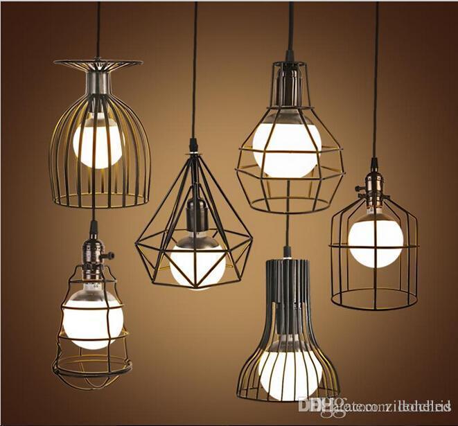 Loft Hanging Lights Vintage Iron Birdcage Pendant Lighting
