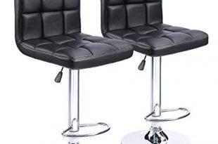 Amazon.com: Homall Modern PU Leather Adjustable Swivel Barstools