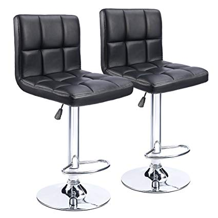 Amazon.com: Homall Modern PU Leather Adjustable Swivel Barstools