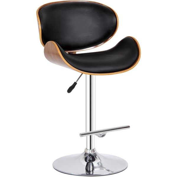 Shop Modern Collection PU Leather Height Adjustable Swivel Bar Stool