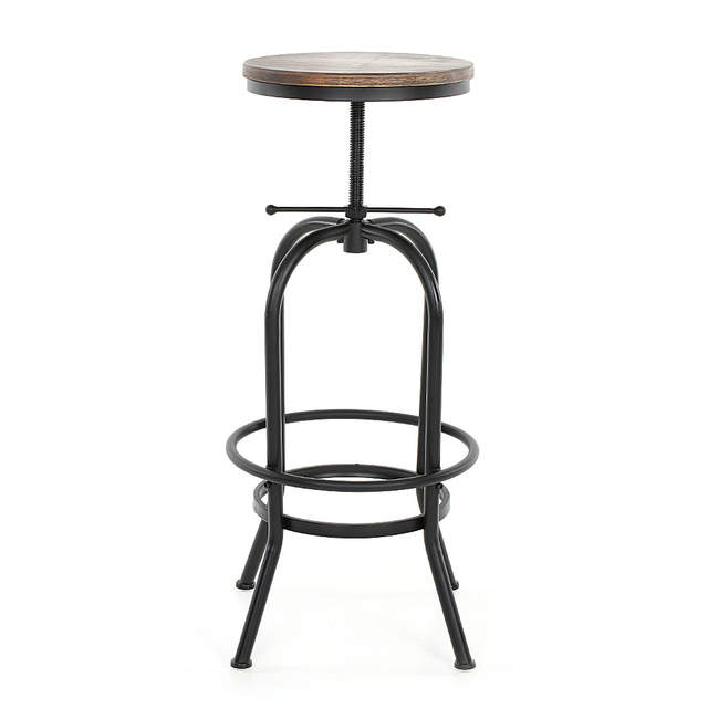 Online Shop iKayaa Bar Stools Chair Industrial Style Bar Stool