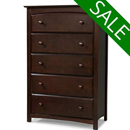 Amazon.com: EFD Brown 5 Drawer Dresser for Bedroom Wood Dresser