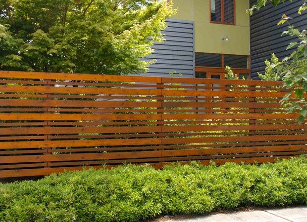 Horizontal Wood Fence Horizontal Wood Fence 14 On Home Design