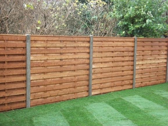 Horizontal Wood Fence Panels Fence Ideas