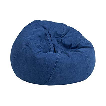 Amazon.com: Flash Furniture Small Denim Kids Bean Bag Chair: Kitchen