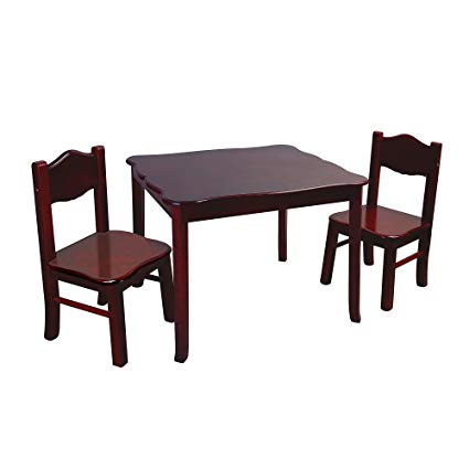 Amazon.com: Guidecraft Classic Wooden Table and Two Chairs Set