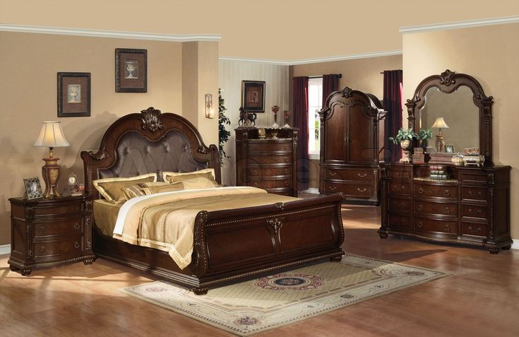 Provide chic appearances with king bedroom set with armoire