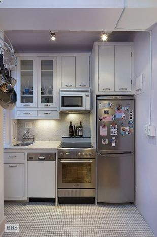 24 Fifth Avenue, small kitchen in an apartment in Greenwich Village