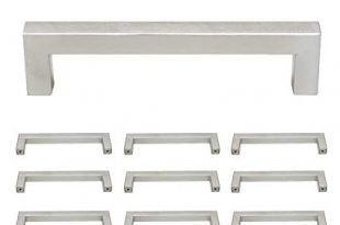 Probrico Square Kitchen Cupboard Handles And Pulls 5 inch Holes