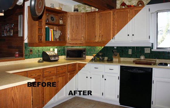 Kitchen Cupboard Paint Before And After Y79 In Amazing Home