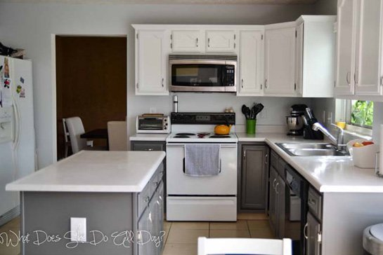 Painting Kitchen Cabinets Before & After
