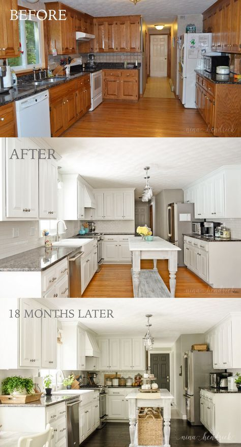 Kitchen Cupboard Paint Before And After