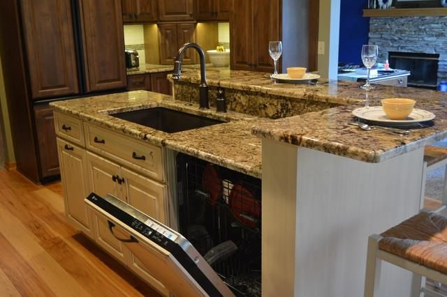 Kitchen Sink Dishwasher #3 - Kitchen Islands With Seating Sink And