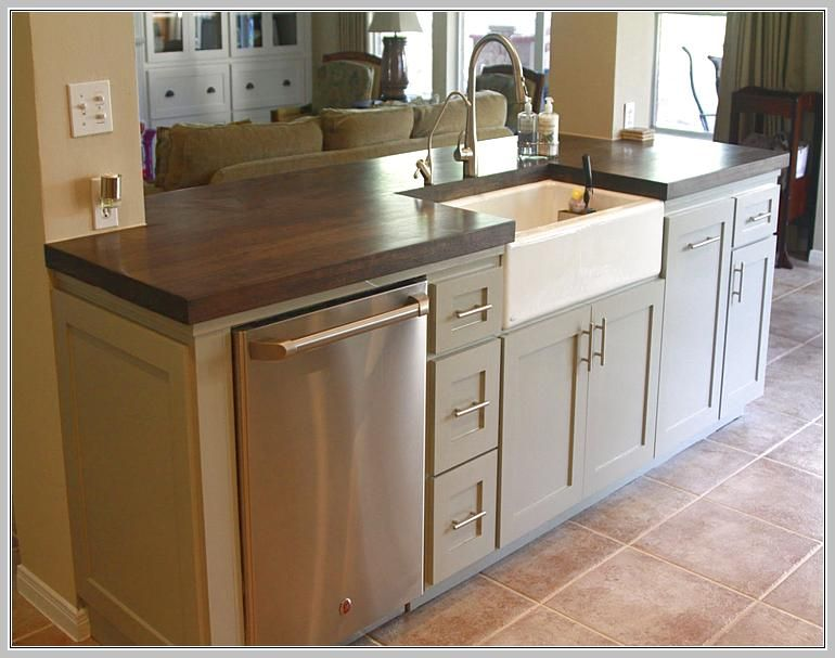 Small Kitchen Island With Sink And Dishwasher | K I T C H E N in