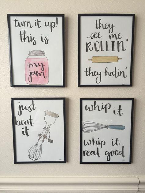 Watch me whip | DIY Wall Art Ideas | Home decor kitchen, Kitchen