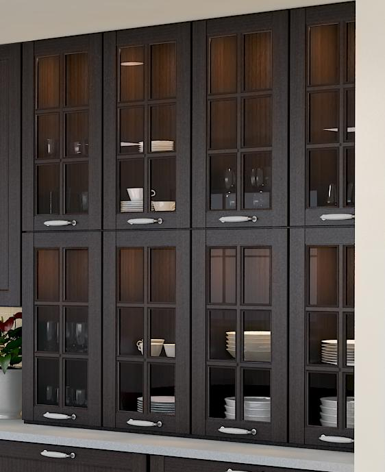 Peerless Sliding Glass Door Cabinet Kitchen Wall Cabinets Frosted