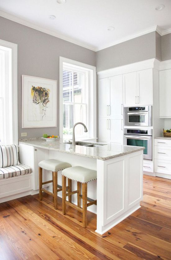 Sherwin Williams Gray Versus Greige - | Home decor | Kitchen paint