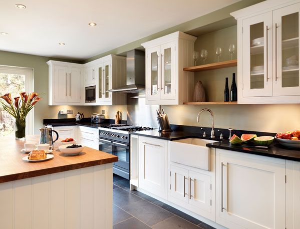Image result for black worktop beech cabinet kitchen ideas | Kitchen
