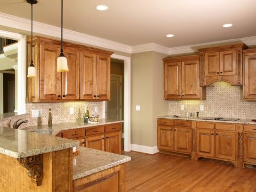 Top Kitchen Paint Colors with Wood Cabinets | kitchen | Kitchen