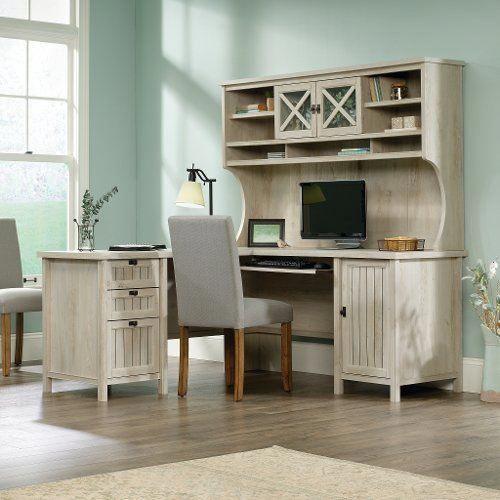 L Shaped Corner Computer Desk with Hutch - Costa in 2018 | Furniture