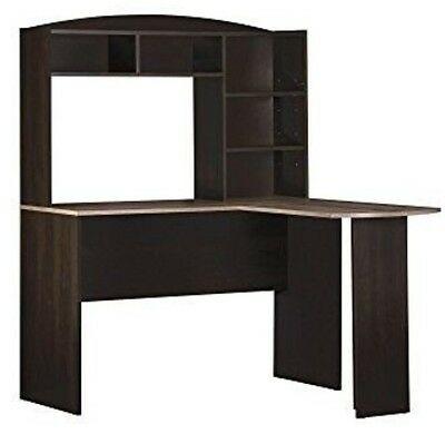 L SHAPED CORNER Computer Desk Workstation Table Hutch Dorm Room