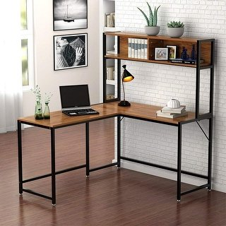 Shop L-Shaped Desk with Hutch, 55
