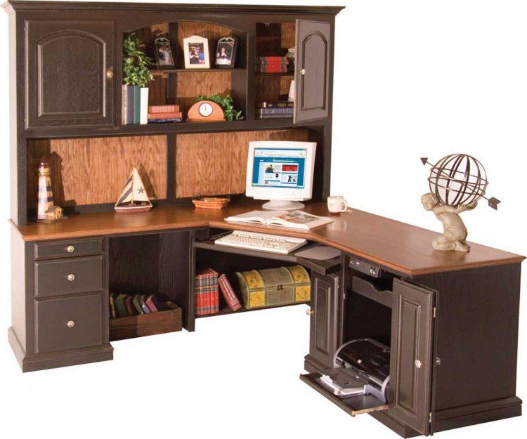 Interesting Corner Computer Desk With Hutch Designs | atzine.com