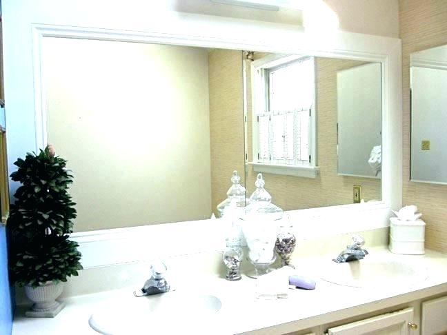 Double Vanity Mirrors For Bathroom Large Bathroom Mirror For Double