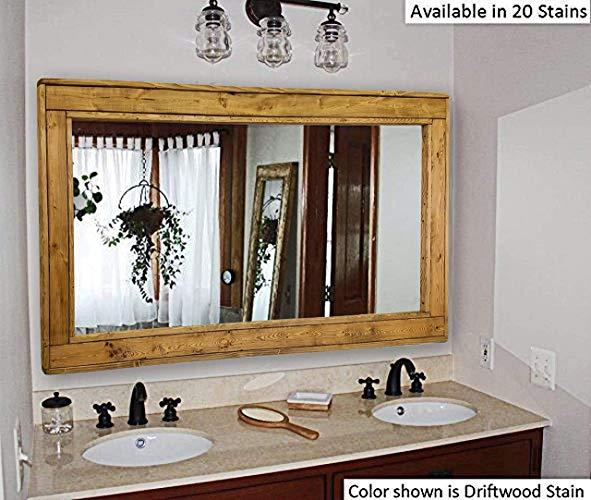 Amazon.com: Herringbone Large Mirror Double Vanity Mirror, Available