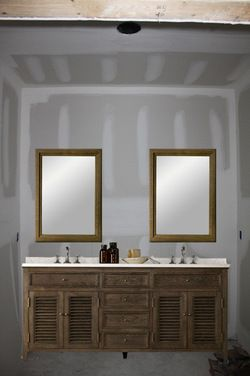 One large mirror or two individual mirrors over double vanity