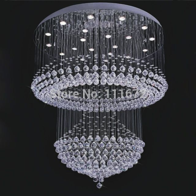 new modern crystal lamp large crystal chandeliers lustres foyer