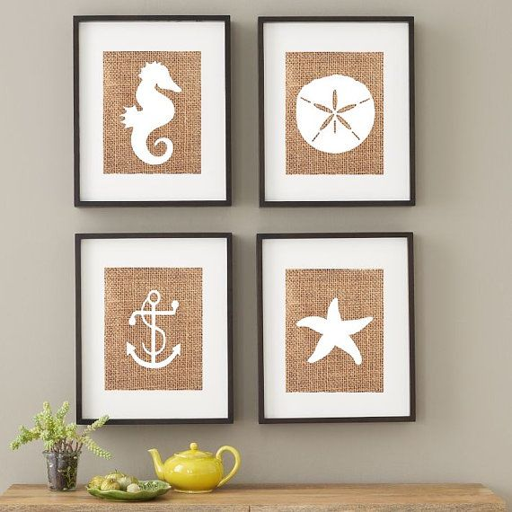 Wall Art Ideas Design : Combination Starfish Wall Art Simple Great