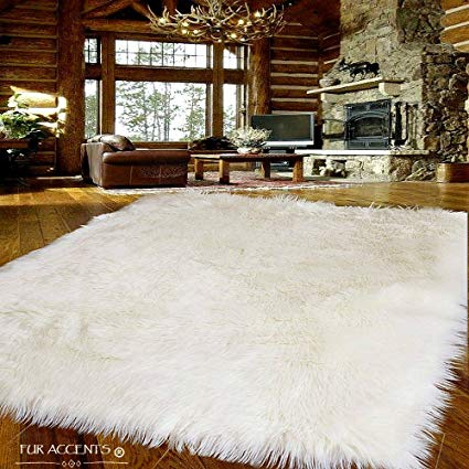 Amazon.com: Fur Accents Large Faux Sheepskin Shag Area Rug - Accent