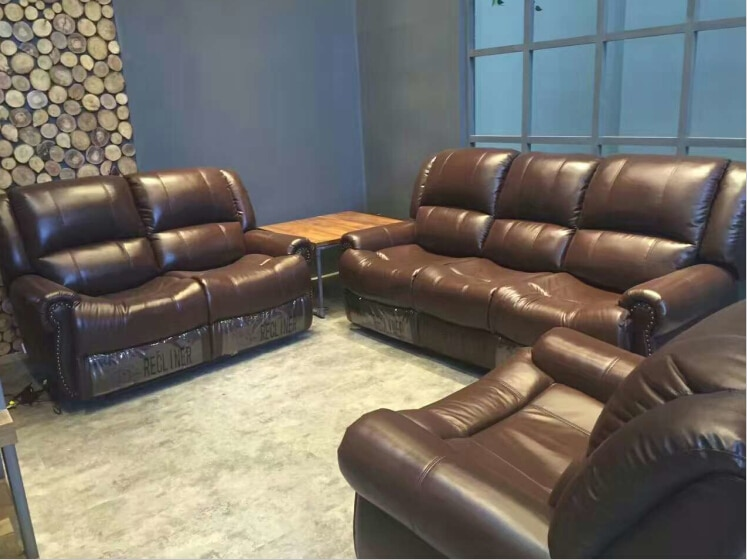 Living room sofa modern sofa set recliner sofa with Top grain