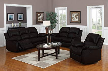 Amazon.com: Divano Roma Furniture Traditional Classic Reclining Sofa