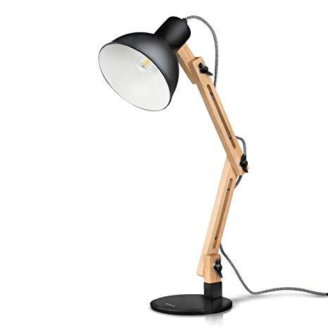 Amazon.com: Tomons Swing Arm LED Desk Lamp, Wood Designer Table Lamp