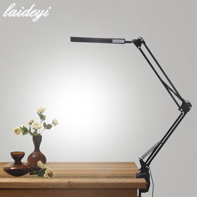 LAIDEYI Desk Lamp Clip Office Led Desk Lamp Flexible Led Table Lamp