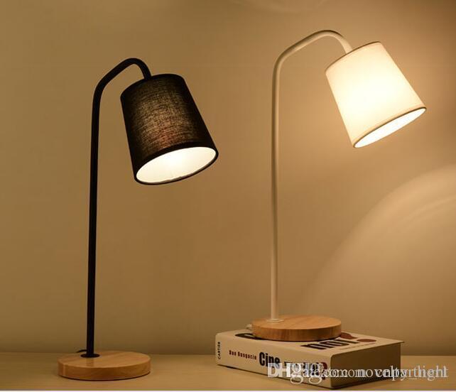 Loft European Style LED Table LampS E27 Retro Wood Iron Reading