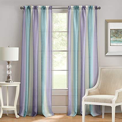 Amazon.com: Achim Home Furnishings Spectrum Rod Pocket Window