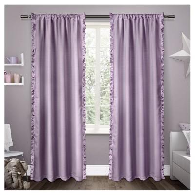 Ruffles Curtain Panel Set Lilac (54