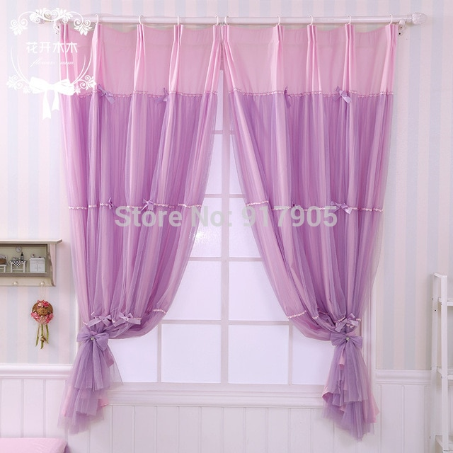 Elegant Purple Bedroom Curtains Romantic Lilac Curtains For Living