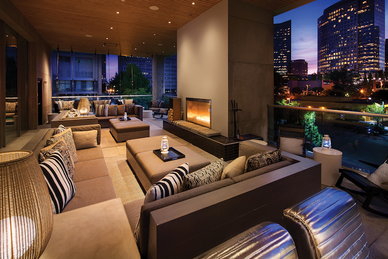 W Living Room Bar & Porch - The Bellevue Collection