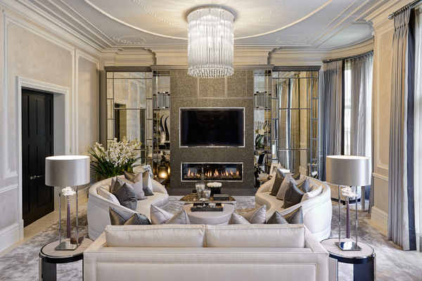 Interior Design Ideas for Luxury Living Rooms and Reception Rooms