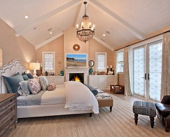 Cathedral bedroom ceiling lights ideas | Decolover.net | Bedroom